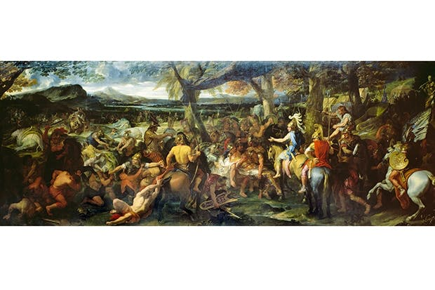 Ancient worlds collide: Alexander and Porus at the Battle of Hydaspes, in what is now Punjab, painted by Charles Le Brun, 1673
