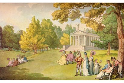 The gardens at Stowe House c. 1785