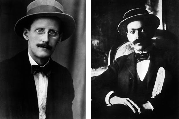 'I met more kindness in Trieste than I ever met anywhere else', said James Joyce (left), referring to his friend — and lookalike — Italo Svevo