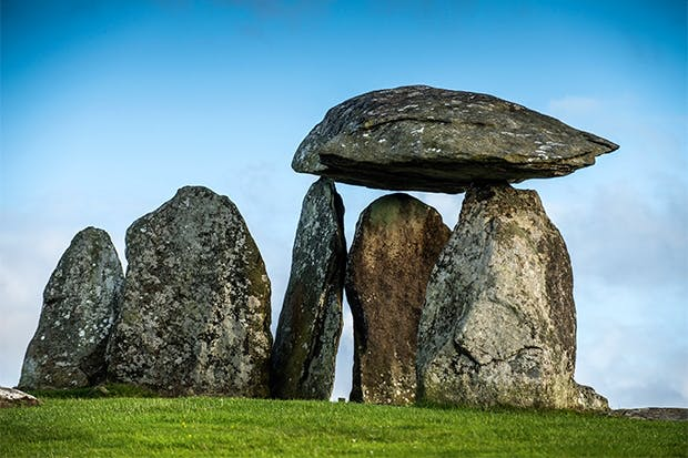 Neolithic burial chamber at Pentre Ifan, Pembrokeshire