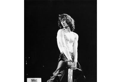 Mick Jagger at Knebworth, 1976