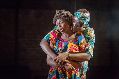 Joan Iyiola and Anna-Maria Nabirye in 'They Drink It in the Congo'