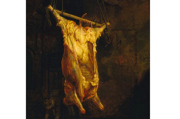 'Carcase of an Ox', by the circle of Rembrandt