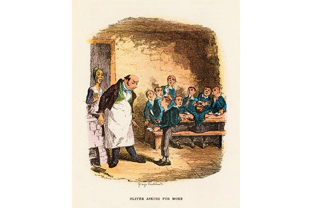 George Cruikshank's illustration for 'Oliver Twist' by Charles Dickens