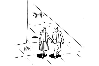 'My dad only agreed to let us go on this date if he could follow us with a drone.'