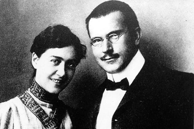 Carl Gustav Jung and his wife Emma in Vienna, 1907
