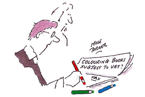 'Not now, Dear, I'm colouring in my tax return.