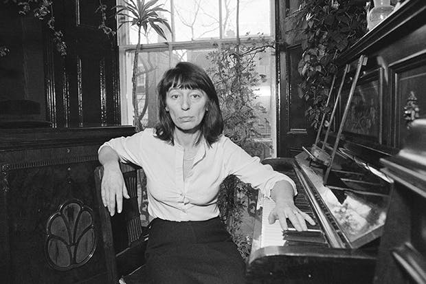 Beryl Bainbridge, photographed at home in London in 1980