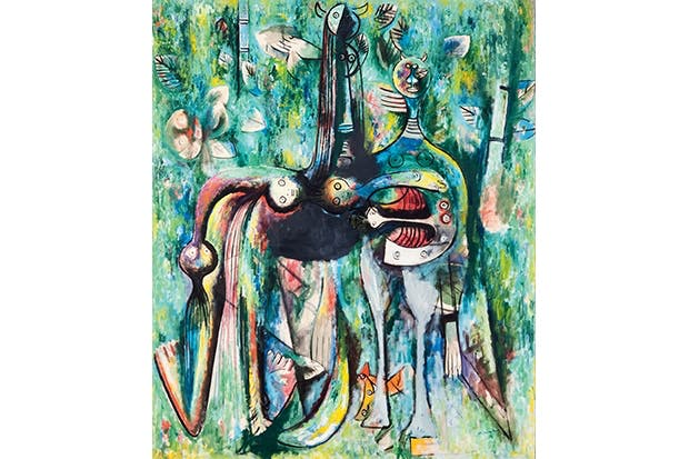 'The Sombre Malembo, God of the Crossroads', 1943, by Wifredo Lam