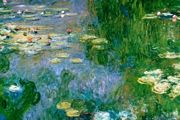 One of many versions of Monet's water lilies