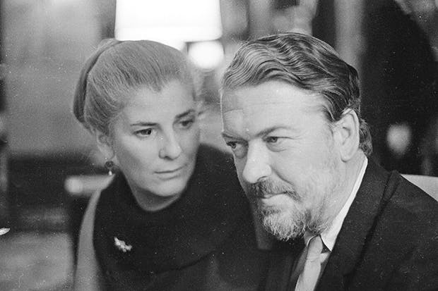 More than just a pretty face: Elizabeth Jane Howard in 1968 with husband Kingsley Amis – the biggest leech of all