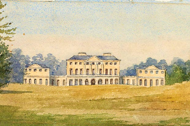 Hurstbourne Park, the Earl of Portsmouth's family home in Hampshire, provided the only protection and stability in his life