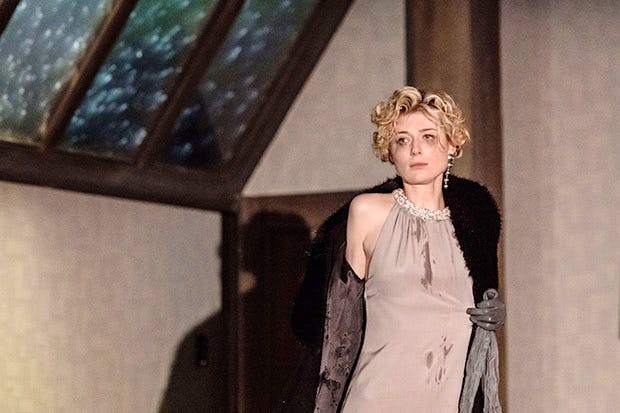 Dread and anxiety haunt every beat of the play: Elizabeth Debicki as Mona Sanders in David Hare's 'The Red Barn'