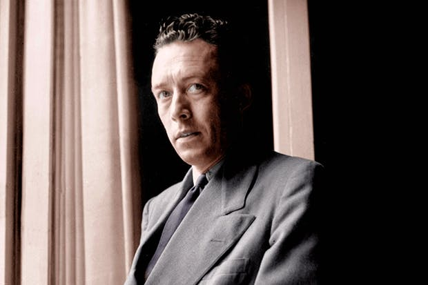 Albert Camus photographed at home in 1947