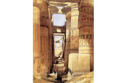 The ruins of the temple at Karnak by David Roberts