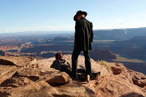 Ed Harris as the sadistic baddie, the Man in Black, in Sky Atlantic's 'Westworld'