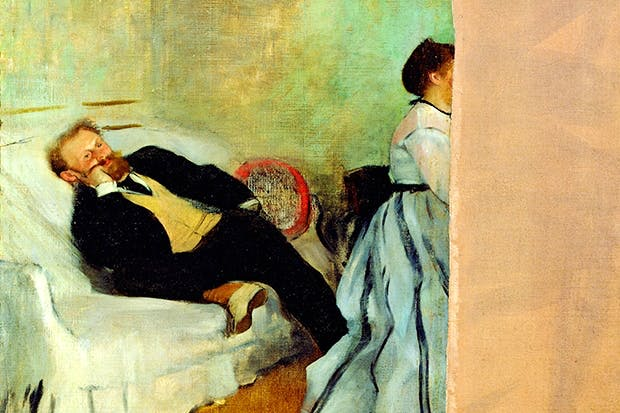 Why did Manet slash this portrait of himself and Suzanne by Degas — and why did Degas keep it?