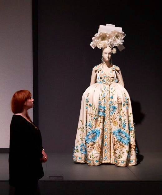 An 'Infanta' dress at the Barbican's exhibition 'The Vulgar'. Photo: © Michael Bowles / Getty Images