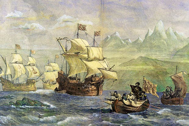 The Discovery of the Strait of Magellan, by Oswald Walters Brierly (private collection)