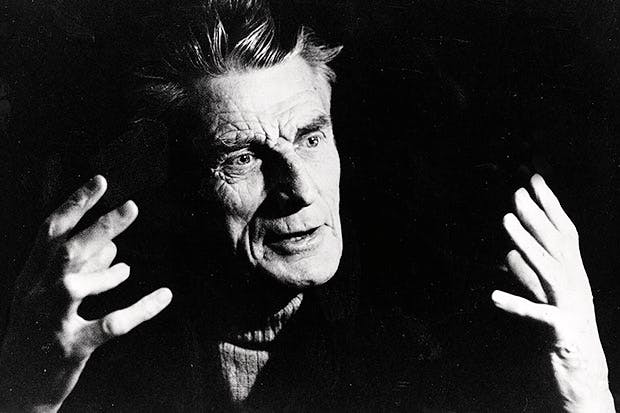 Hectically busy: Beckett in 1976