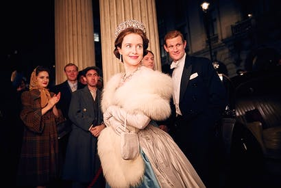 Drama queen: Claire Foy as Elizabeth and Matt Smith as Prince Philip in Netflix's 'The Crown'