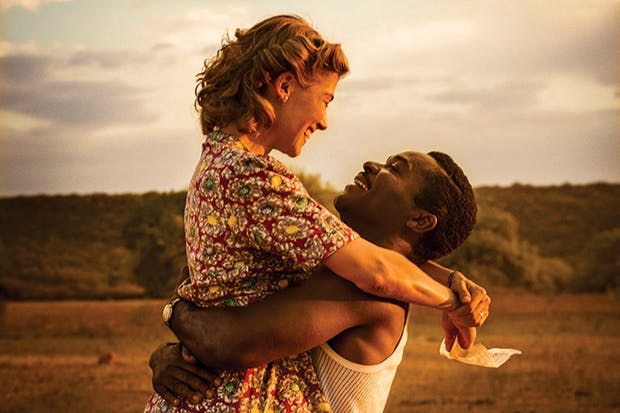 Forbidden love: Rosamund Pike as Ruth Williams and David Oyelowo as Seretse Khama
