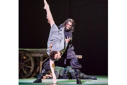 Natalia Osipova as Anna Anderson and Thiago Soares as Rasputin in 'Anastasia'