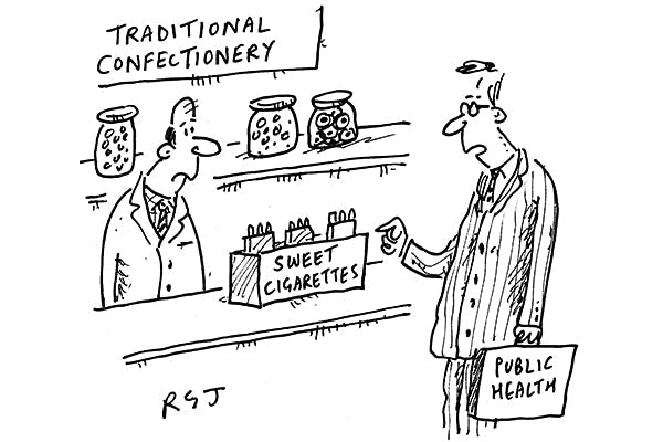 'You can't sell those. They might encourage smokers to eat sugar.'