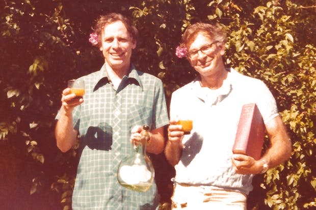 Happy days: Amos Tversky and Daniel Kahneman in the late 1970s, photographed in the garden of Tversky's house in Stanford, California