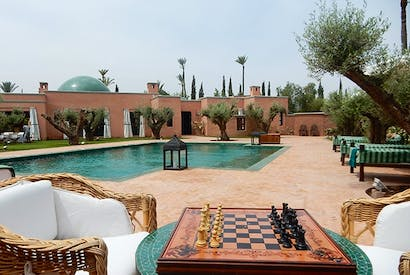 Room and board in the elegant grounds of ­Ezzahra