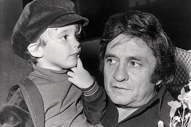 John Carter Cash and Johnny Cash, 1972