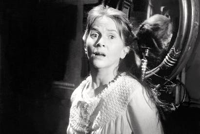 Julie Harris in the 1963 film The Haunting, based on Shirley Jackson's The Haunting of Hill House