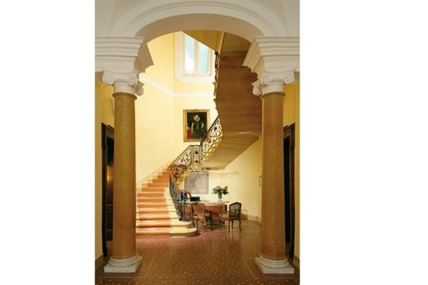 Making a grand entrance: the atrium of the Villa Spalletti Trivelli