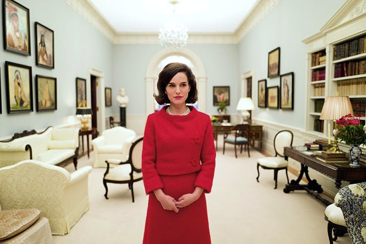 We see what she is but never why: Natalie Portman as Jackie Onassis