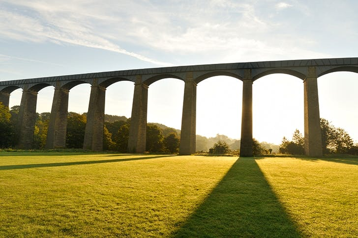 An elegant curiosity: Thomas Telford's Pontycysyllte Aqueduct in north-east Wales, completed in 1805, is the longest and highest in Britain and a World Heritage Site