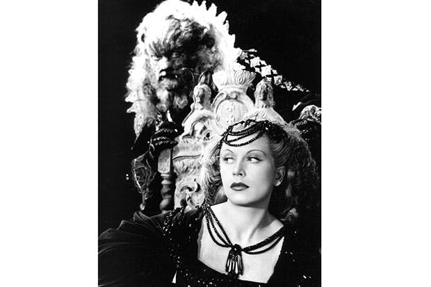 Josette Day and Jean Marias in La Belle et La Bête, one of Cocteau's most visually stunning films