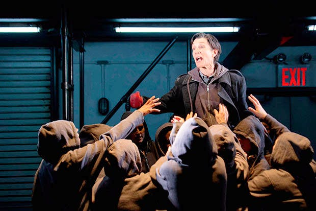 Harriet Walter as Brutus in the Donmar's 2012 production of Julius Caesar