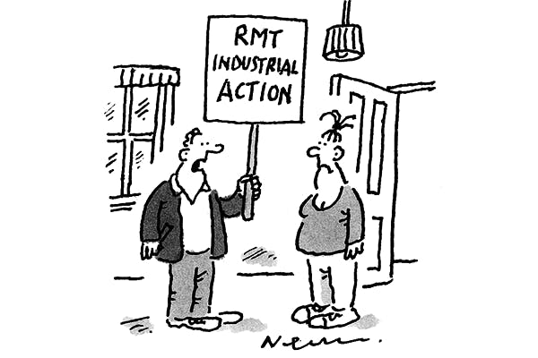 'I can't get in to work, so I'm striking from home.'