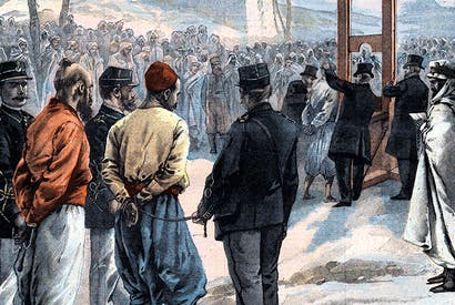 Execution of Algerian rebels in Sétif
