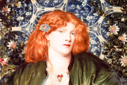 Fanny Cornforth's mouth comes under Kathryn Hughes's scrutiny. The Pre-Raphaelite muse is seen here in Rossetti's 'The Blue Bower'