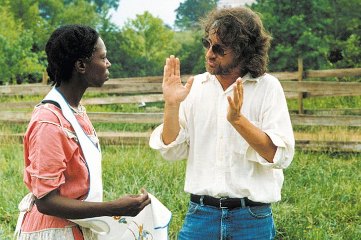 Steven Spielberg directs Whoopi Goldberg in The Color Purple