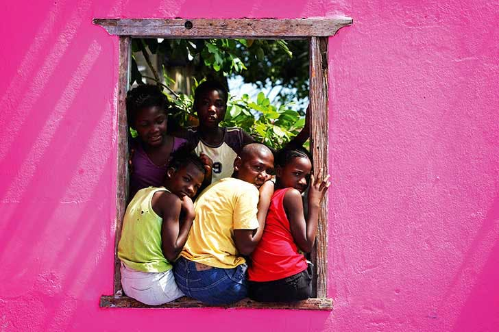 Children in Rose Town in 2008, one of the poorest areas of Kingston, Jamaica , with one of the highest crime rates in the world