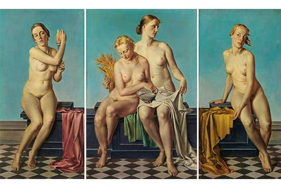 'The Four Elements', before 1937, by Adolf Ziegler, which hung above Hitler's fireplace