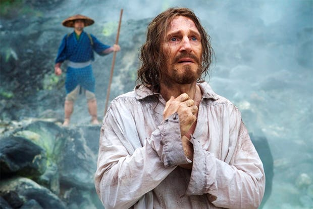 Say a little prayer: Liam Neeson as Father Ferreira in 'Silence'