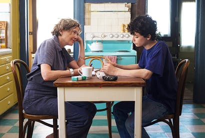 Relative values: Annette Bening and Lucas Jade Zumann in '20th Century Women'