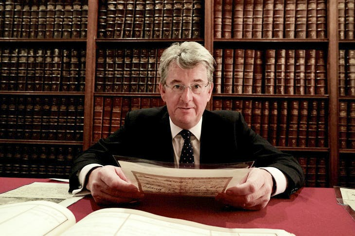 Robert Hardman inside the Royal Archives with George III's private papers