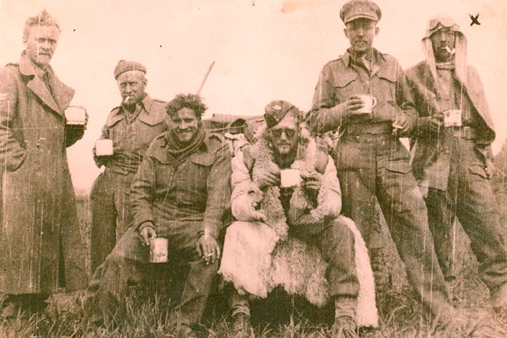 The SAS in the Western Desert, c.1942. John Tonkin second from right.