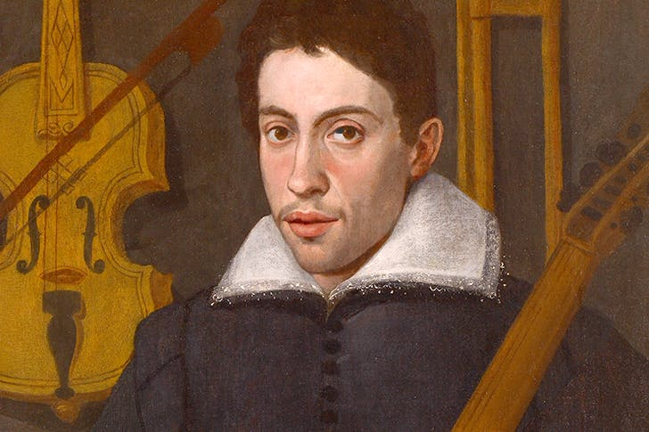 'Portrait of a Musician', thought to be Claudio Monteverdi, c.1590, by a Cremonese artist