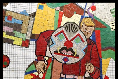 Eduardo Paolozzi mosaics in Tottenham Court Road Tube station, London, originally completed in 1986 and restored in 2016 Laura Freeman