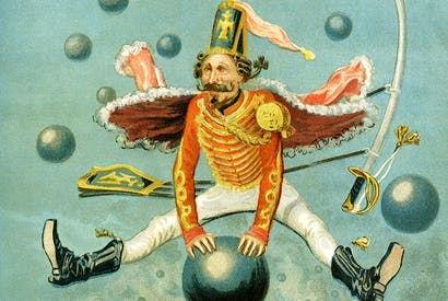 Illustration by Alfonse Adolf Bichard for the original Adventures of Baron Munchausen